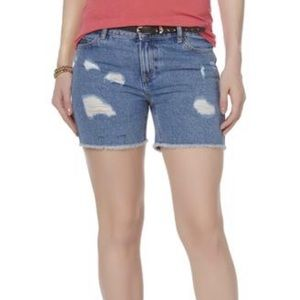 Pants - R1893 Women's Denim Midi Shorts
